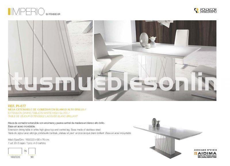 Mesa de comedor diseño mod. Imperio - Mesas