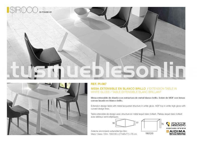 Mesa de comedor diseño mod. Siroco
